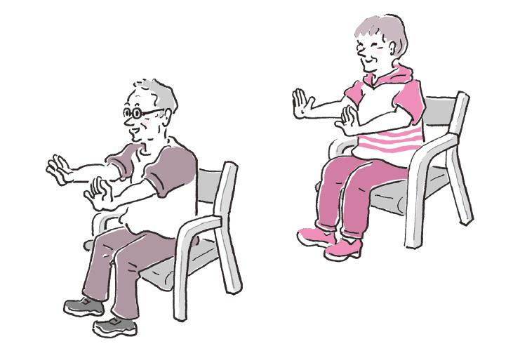 上肢のトレーニング 「手首ブラブラ体操」