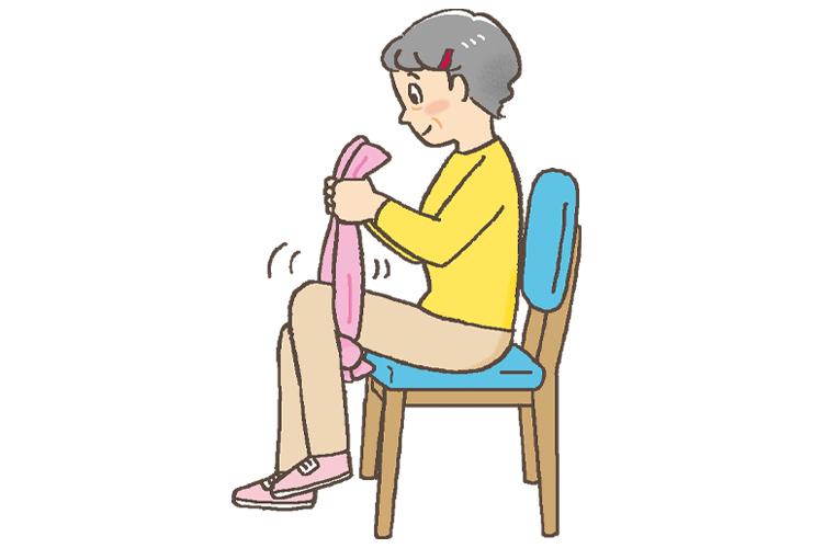 ひざ裏を刺激する「ひざ裏はさみ」